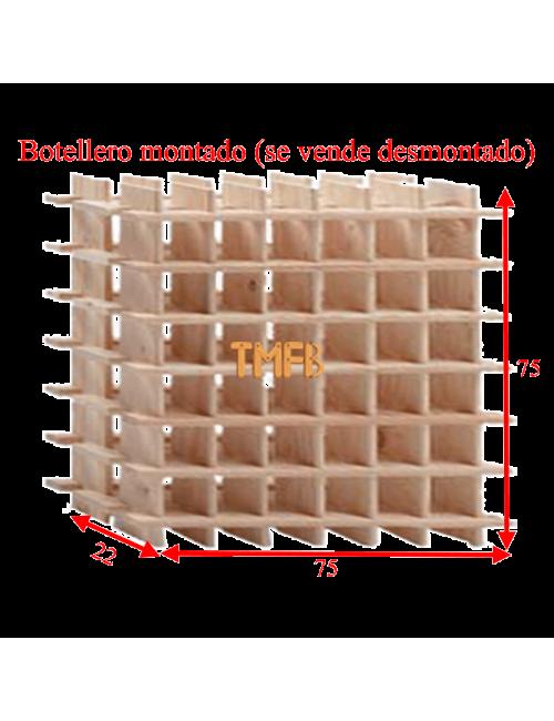 BOTELLERO MADERA DE PINO Mod. ARGANDA-036 botellas