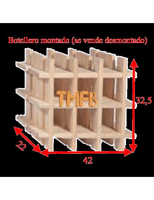 BOTELLERO MADERA DE PINO Mod. ARGANDA-009 botellas