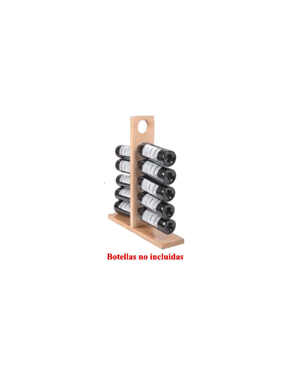 BOTELLERO MADERA DE HAYA Mod. CHINCHON-10 botellas