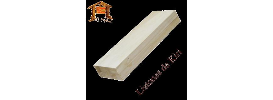 Listones de madera de Kiri o Paulownia