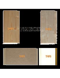 Friso blanco MDF y de madera