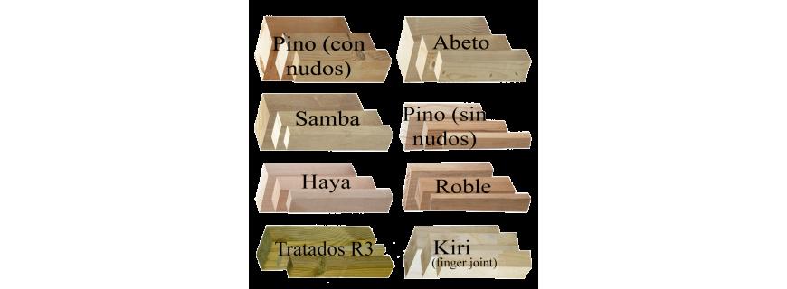 Listones de madera y MDF