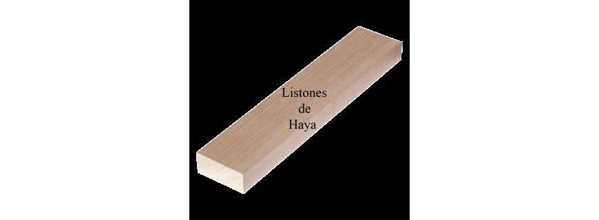 Listones de madera de Haya