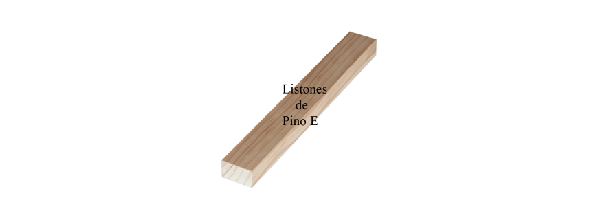 Listones de madera de Pino Especial