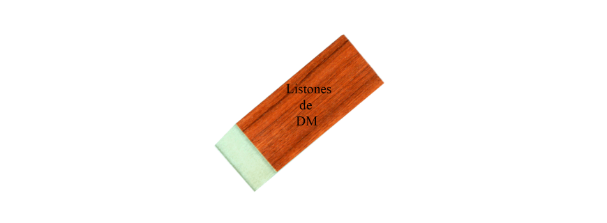 Listones de MDF melamina varios colores