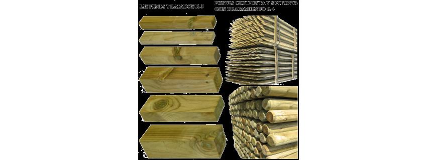 Madera tratada para exterior tableros y molduras f lix - Postes de madera tratada ...