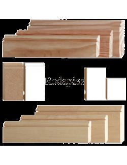 Rodapie MDF y de madera
