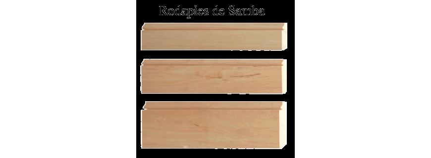 Rodapie de madera de Samba