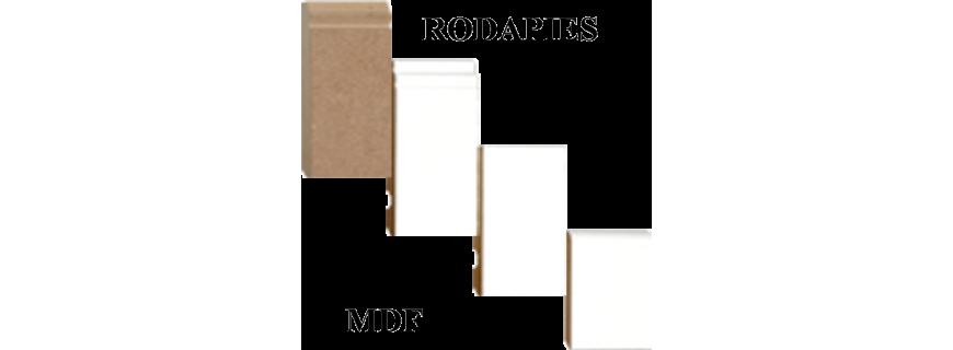 Rodapie mdf sin cubrir melamina blanco y de otros colores for Rodapie negro
