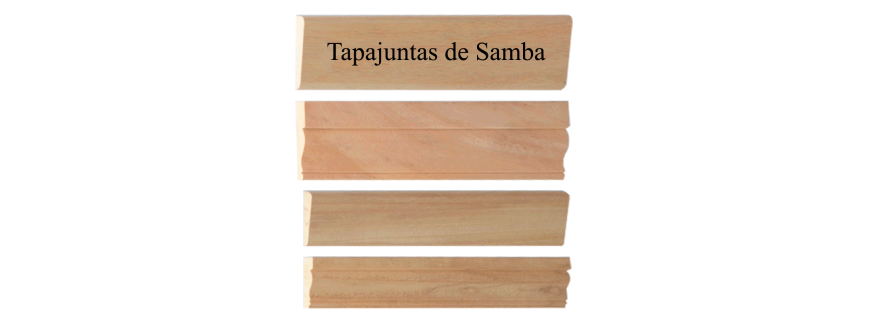 Tapajuntas de madera de Samba