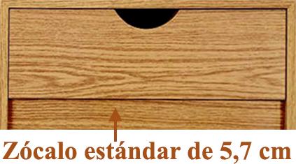 Zócalo estándar de 5,7 cm