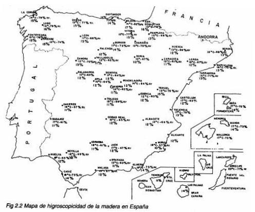 humedad mapa de España